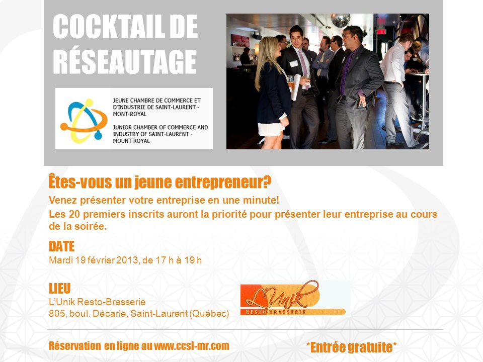 cocktail de reseautage Speed networking